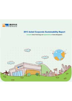 2013 AcBel CSR report